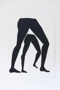 Legs II, gouache on paper, 22 ½ x 15 in, 2015