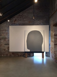 The Black Wall (installation view), oil on canvas, 72 x 60, 2013