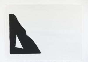 Untitled (Seated 3), ink and gouache on paper, 22 ½ x 30 in, 2016